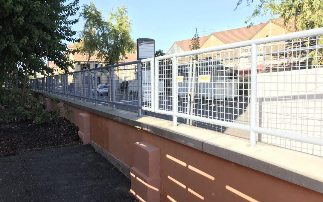 Une clôture métallique à Strasbourg signée DMDH